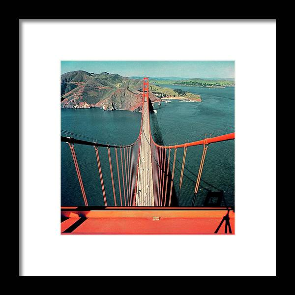 Architecture Framed Print featuring the photograph The Golden Gate Bridge by Serge Balkin