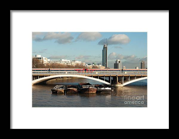 London Framed Print featuring the photograph The Good Barge Providence by Carol Weitz