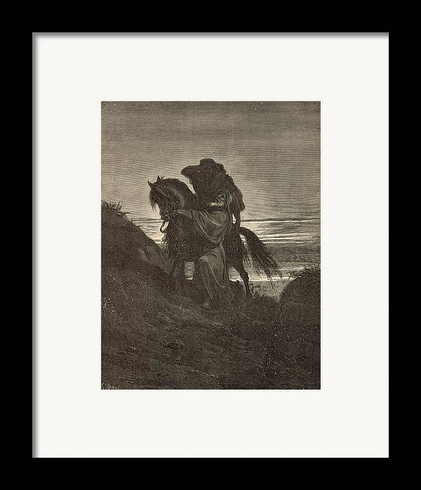 Biblical Framed Print featuring the drawing The Good Samaritan by Antique Engravings