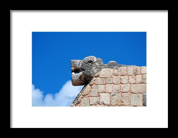 Mayas Framed Print featuring the photograph The Good Snake by Silke Brubaker