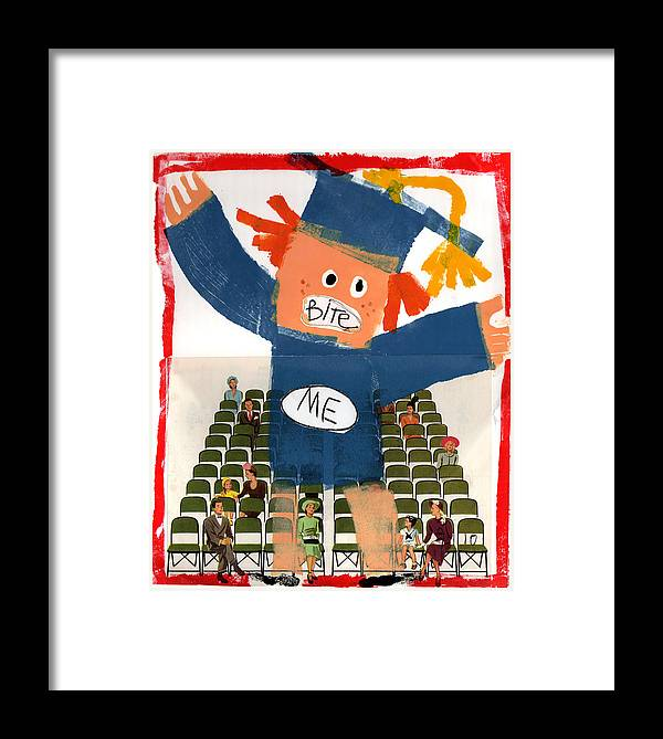 Graduation Framed Print featuring the painting The Graduate by Jennie Cooley