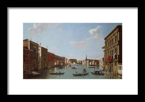 Architecture Framed Print featuring the photograph The Grand Canal And San Geremia, Venice, 18th Century by William James