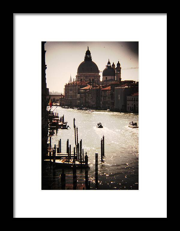 Photography Framed Print featuring the photograph The Grand Canal by Jillian Barrile