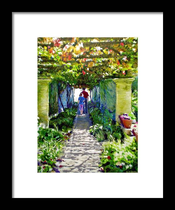 Vineyard Framed Print featuring the painting The Grape Trellis by Michael Durst