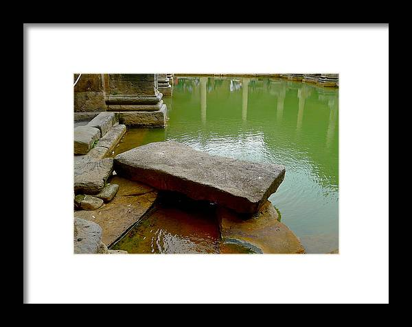 Bath Framed Print featuring the photograph The Great Bath At Bath by Denise Mazzocco