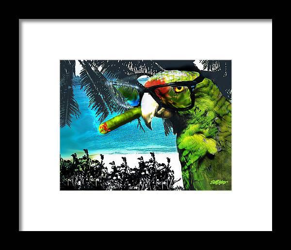 The Great Bird Of Casablanca Framed Print featuring the digital art The Great Bird Of Casablanca by Seth Weaver