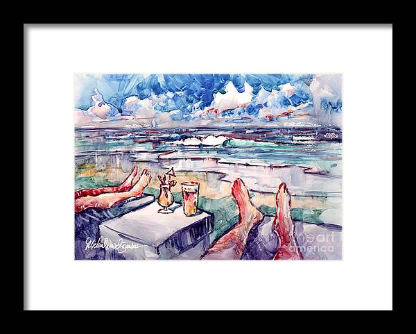 Yupo Framed Print featuring the painting The Great Escape by Michael David Sorensen