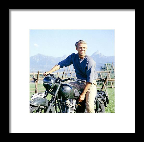 Steve Mcqueen Framed Print featuring the digital art The Great Escape by Georgia Fowler