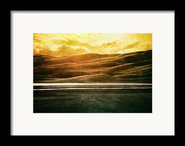 Brett Framed Print featuring the digital art The Great Sand Dunes by Brett Pfister