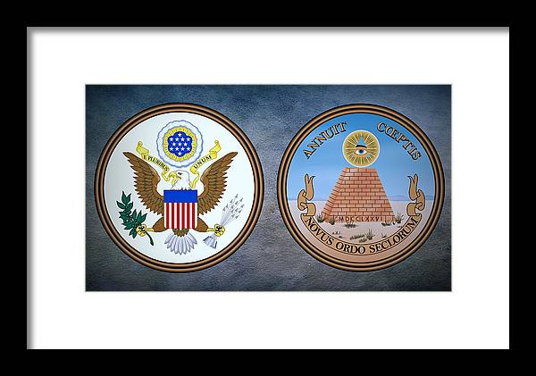 8ea608316 Usa Framed Print featuring the photograph The Great Seal Of The United  States Obverse And Reverse
