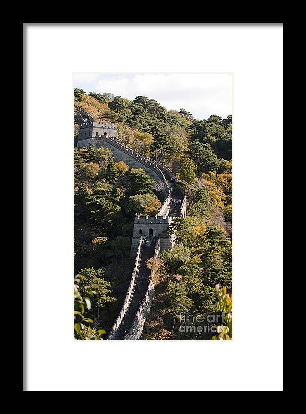 China Landscape Framed Print featuring the photograph The Great Wall 629 by Terri Winkler