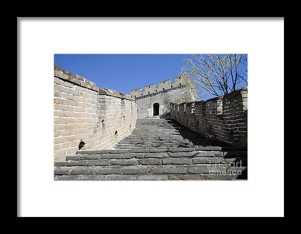 Stairway To Watchtower Framed Print featuring the photograph The Great Wall 721 by Terri Winkler
