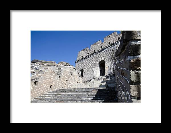 Stairway On The Great Wall Framed Print featuring the photograph The Great Wall 724 by Terri Winkler