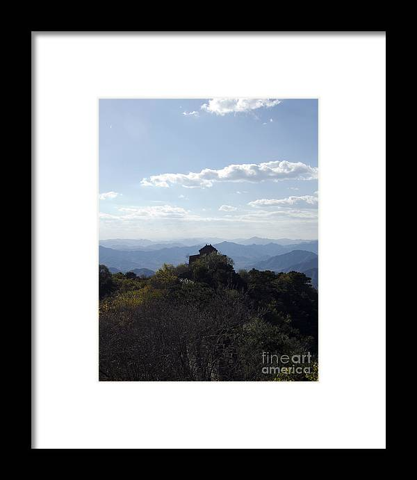 China Landscape Framed Print featuring the photograph The Great Wall 855 by Terri Winkler