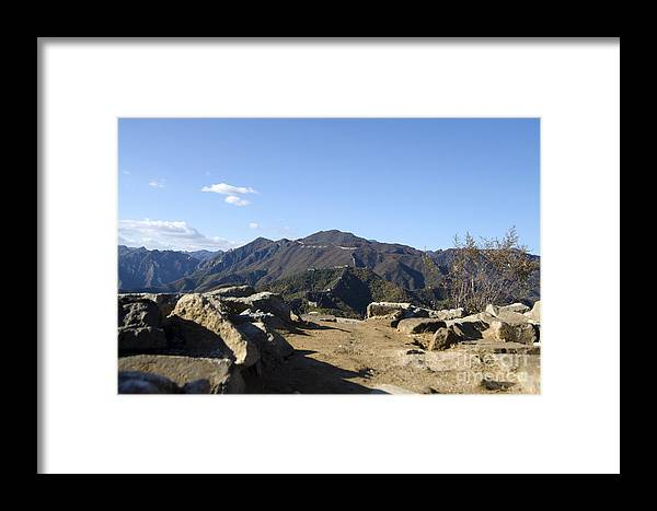 Unmaintained Watchtower On The Great Wall Framed Print featuring the photograph The Great Wall 858 by Terri Winkler