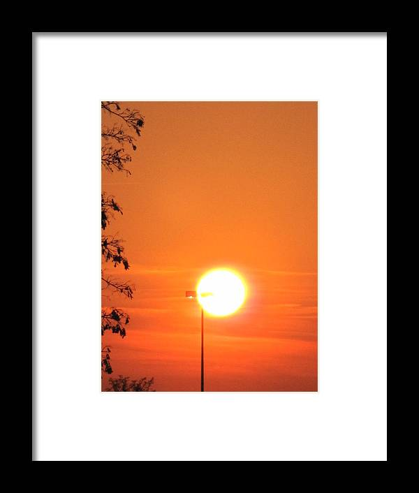 Sunset Framed Print featuring the photograph The Greater Light... by Frank Chipasula