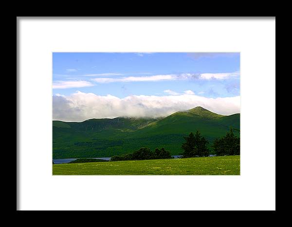 Green Framed Print featuring the photograph The Greens Of Ireland by Richard Ortolano