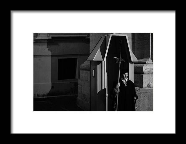 Italy Framed Print featuring the photograph The Guard by David Rucker
