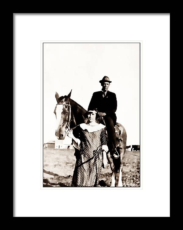 Vintage Framed Print featuring the photograph The Guardian by Image Takers Photography LLC