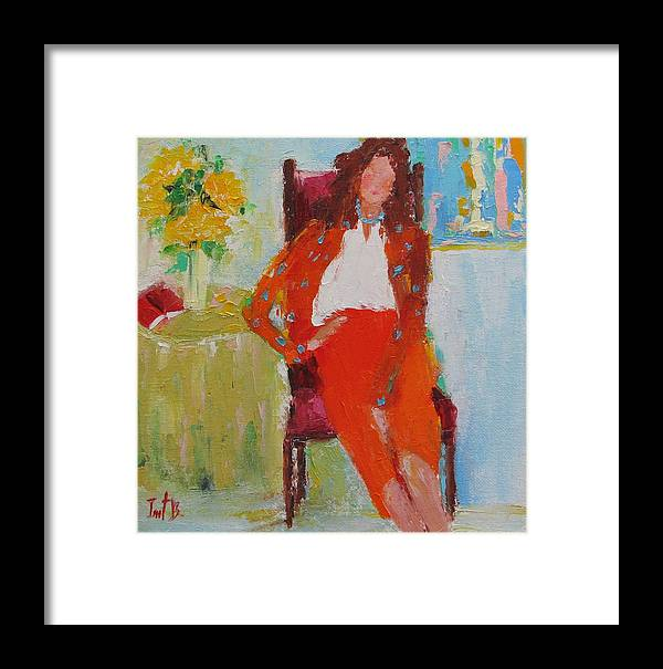Figurative Framed Print featuring the painting The Guests Just Left by Irit Bourla