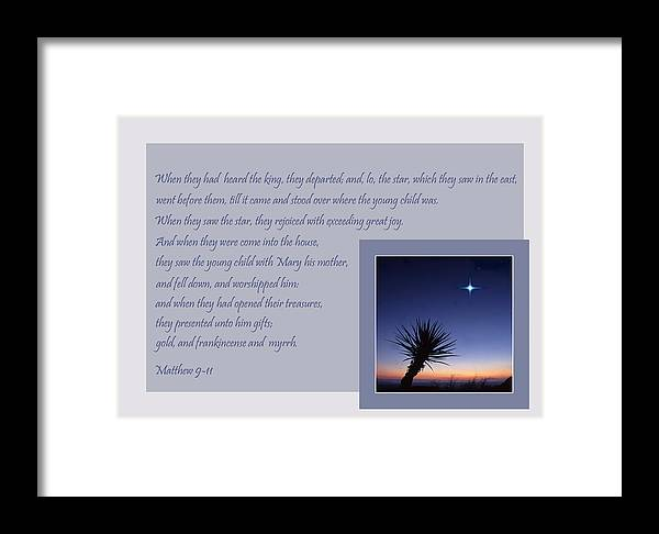 Christmas Framed Print featuring the photograph The Guiding Star by David and Carol Kelly