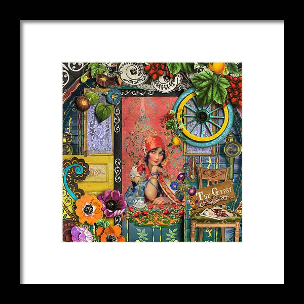 Gypsy Framed Print featuring the painting The Gypsy by Laura Botsford