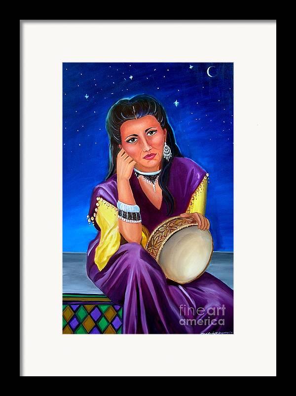 Gypsy Framed Print featuring the painting The Gypsy by Lora Duguay