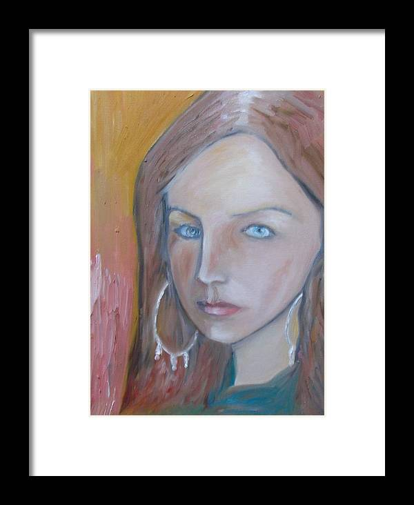 Portraiture Framed Print featuring the painting The H. Study by Jasko Caus