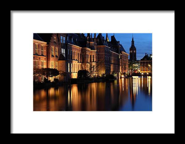 's-gravenhage Framed Print featuring the photograph The Hague By Night by Mihai Andritoiu