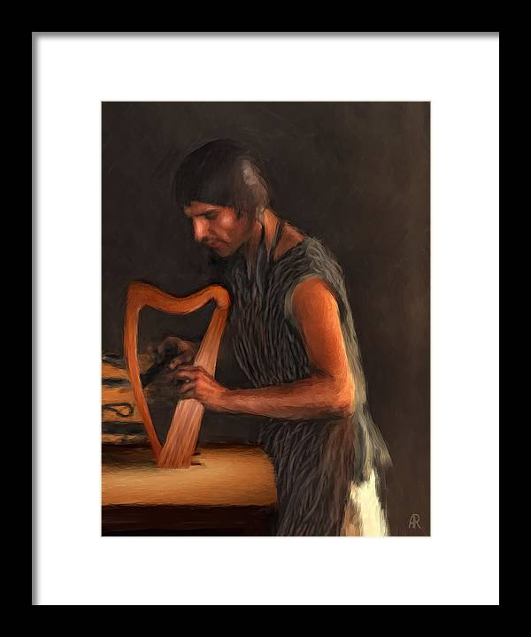 Harp Framed Print featuring the painting The Harp Maker by Alice Langlois