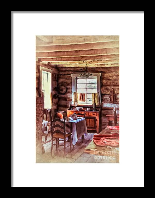 Kitchen Framed Print featuring the photograph The Heart Of The Home by Lois Bryan