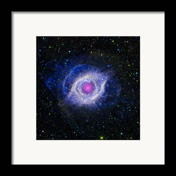 3scape Photos Framed Print featuring the photograph The Helix Nebula by Adam Romanowicz