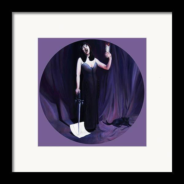 Shelley Irish Framed Print featuring the painting The Heretic by Shelley Irish