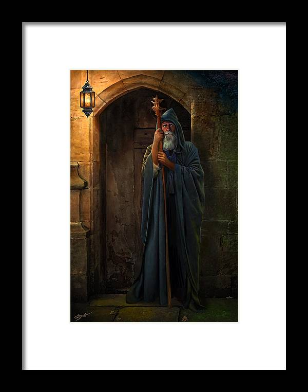 Hermit Framed Print featuring the digital art The Hermit by Bob Nolin