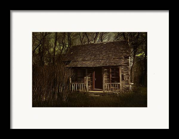 Hermits Framed Print featuring the photograph The Hermit's Cabin by Julie Dant