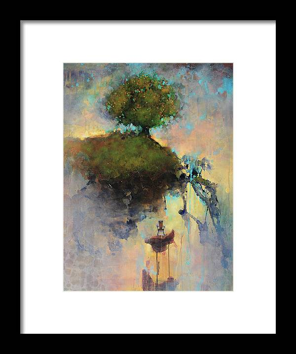 Joshua Smith Framed Print featuring the painting The Hiding Place by Joshua Smith