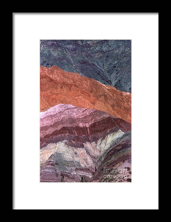 Argentina Framed Print featuring the photograph The Hill Of Seven Colors Argentina by James Brunker