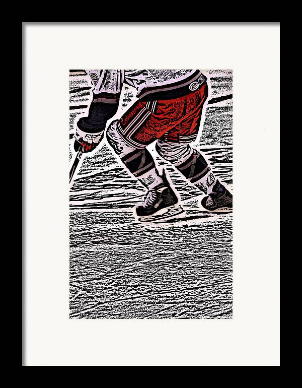 Hockey Framed Print featuring the photograph The Hockey Player by Karol Livote