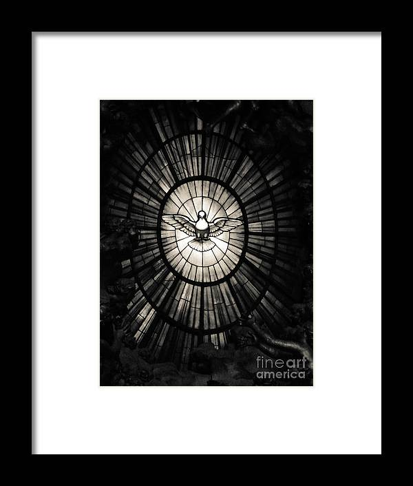 Apostles Framed Print featuring the photograph The Holy Spirit As A Dove by Inez Wijker