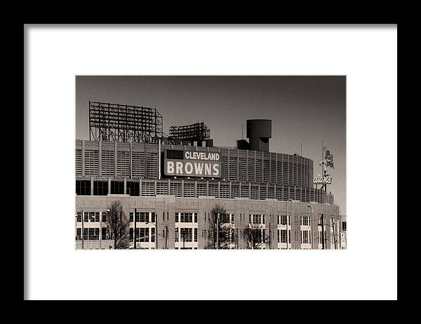 Cleveland Framed Print featuring the photograph The Hometeams by Kenneth Krolikowski