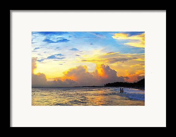 Sunset Framed Print featuring the painting The Honeymoon - Sunset Art By Sharon Cummings by Sharon Cummings