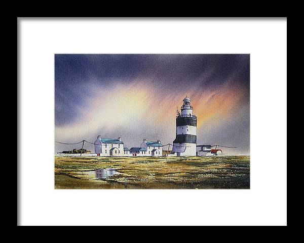 Ireland Framed Print featuring the painting The Hook Revisited by Roland Byrne