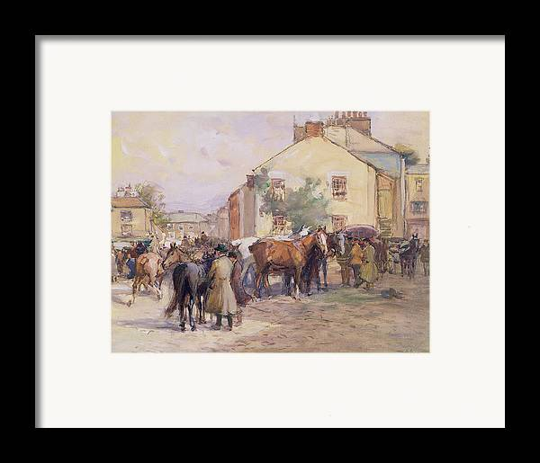 Horse Framed Print featuring the painting The Horse Fair by John Atkinson