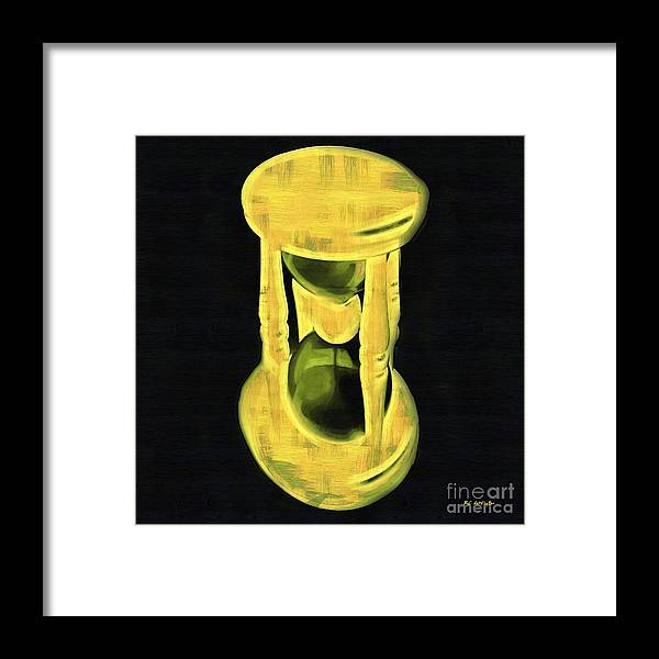 Hourglass Framed Print featuring the painting The Hourglass by RC DeWinter