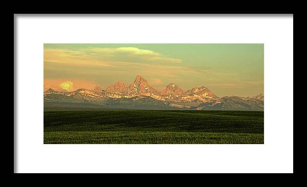 Scenics Framed Print featuring the photograph The Idaho Side Of The Grand Tetons by ©anitaburke