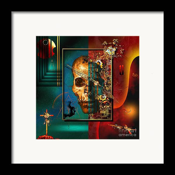 Highly Imaginative Framed Print featuring the digital art The Inconceivability Of The Being by Franziskus Pfleghart