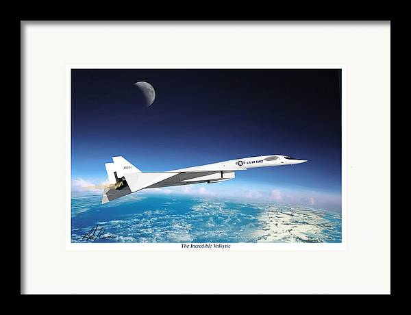 Aviation Framed Print featuring the painting The Incredible Xb-70 Valkyrie by Mark Karvon