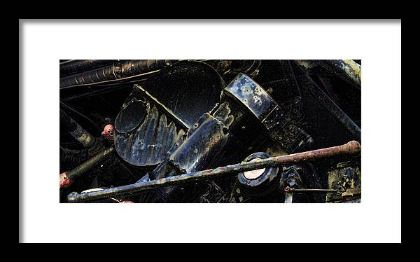 Framed Print featuring the photograph The Internal Parts Abstract by Cathy Anderson