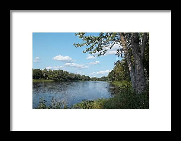Rivers Framed Print featuring the photograph The Intervale On The Piscataquis River by Georgia Hamlin