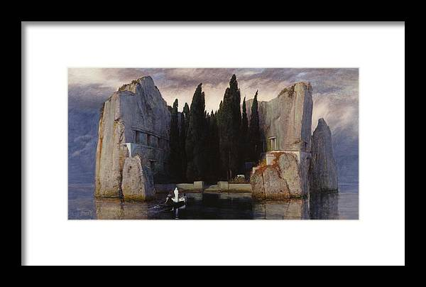 Painting Framed Print featuring the painting The Isle Of The Dead by Arnold Bocklin